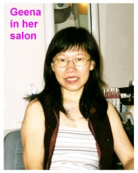 Geena in her salon
