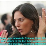 You American Zionist BITCHES who ask You to Stop ME from writing to the 22 EU LEADERS?